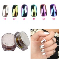 PrettyDiva 6pcs*2g Mirror Nail Glitter Powder